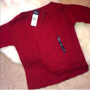 Red Chaps Sweater NWT